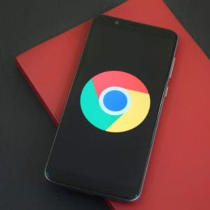 Google Chrome Logo on Mobile - Infintech Designs