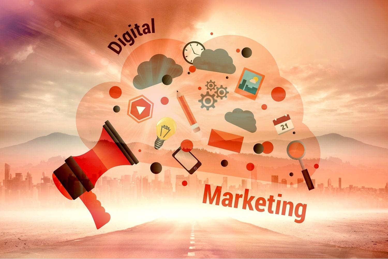 Composite image of digital marketing graphic - Infintech Designs