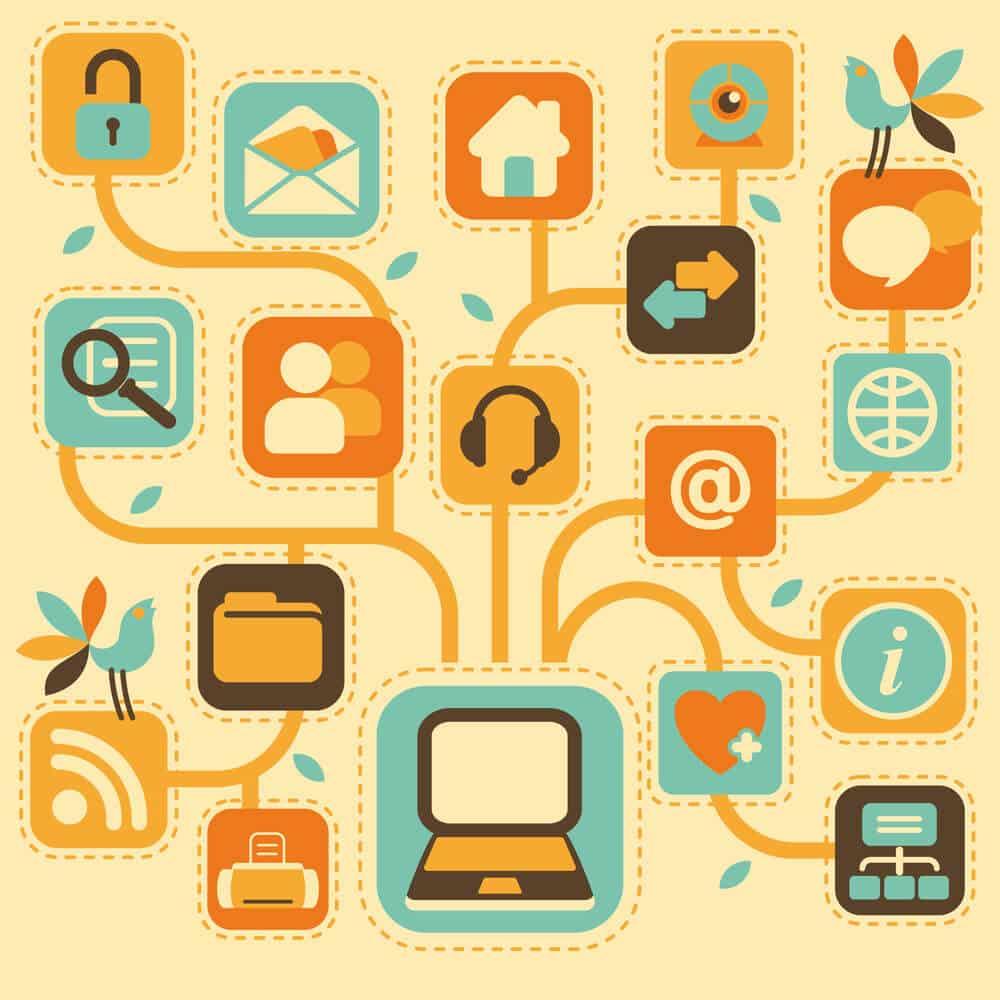 social media links on the website - Infintech Designs