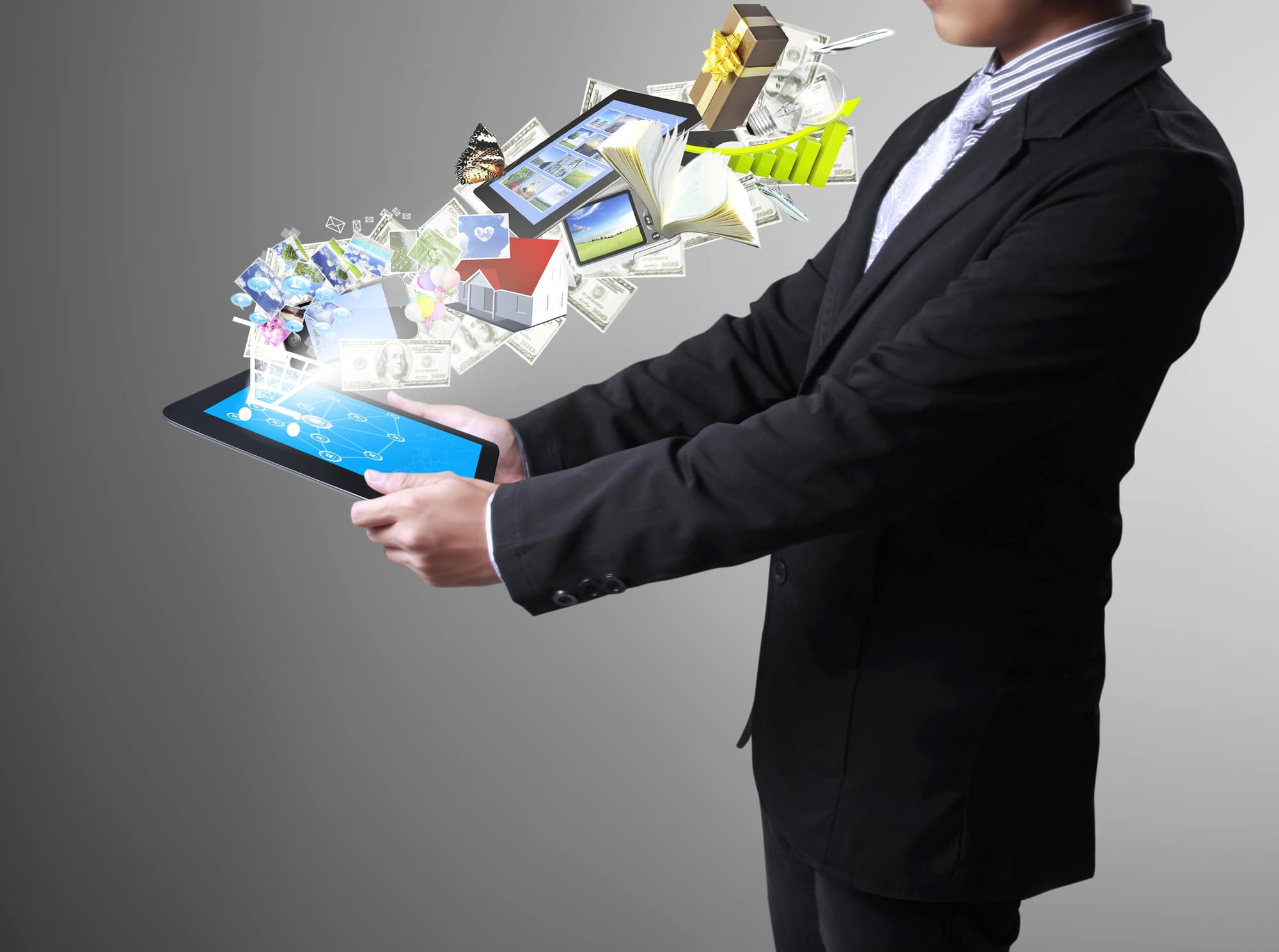 Touch- tablet in hand - Infintech Designs