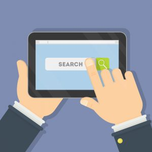Internet search page