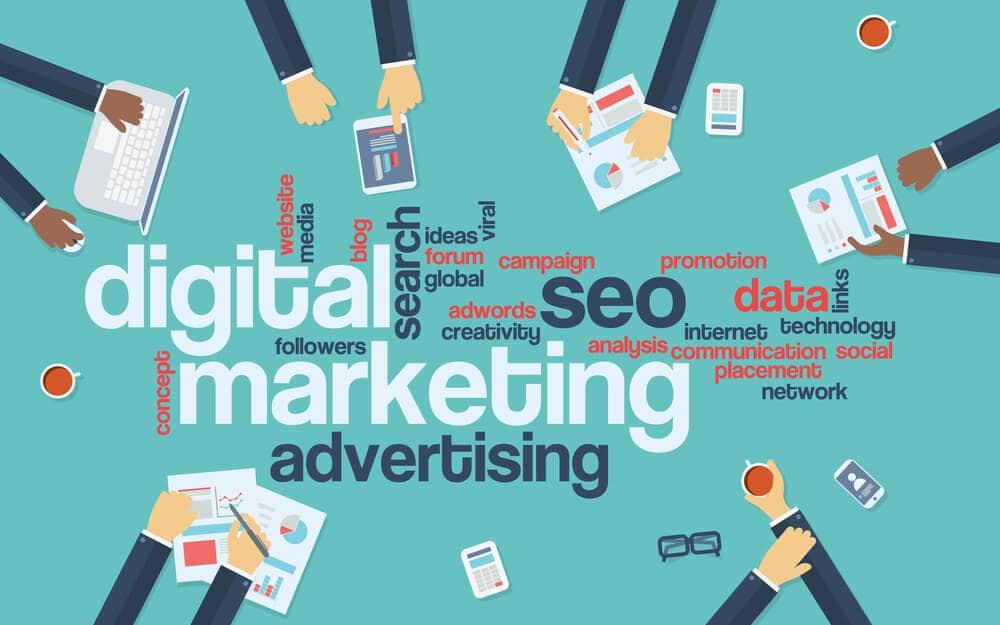 Digital marketing concept infographics - Infintech Desigs