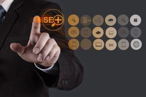 Hand showing search engine optimization - Infintech Designs
