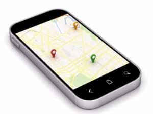 Google Maps on device